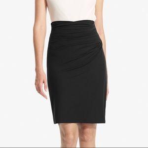 M.M. Lafleur Soho Black Draped Jersey Pencil Skirt